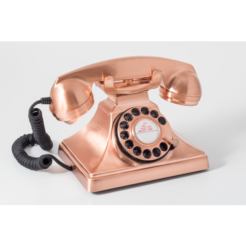 GPO 200 Classic Rotary Dial Retro Telephone Bronze