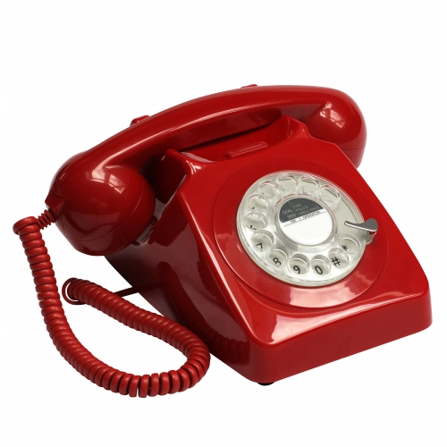 GPO 746 Rotary Dial Telephone - Red