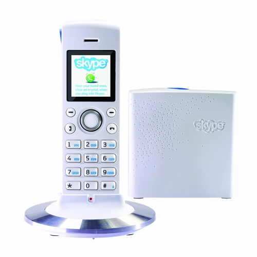 RTX Dualphone 4088 Combined Land Line & Skype DECT Cordless Phone - White