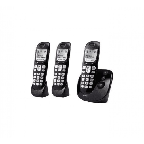 Sagemcom D380A DECT Cordless Phone With Answering Machine - Triple Pack