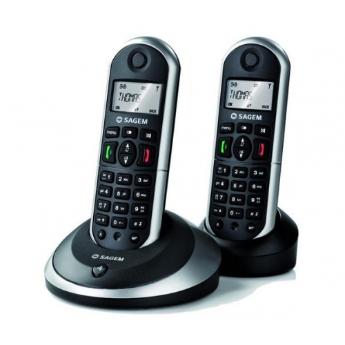 Sagemcom D16T DECT Cordless Phone - Twin Pack