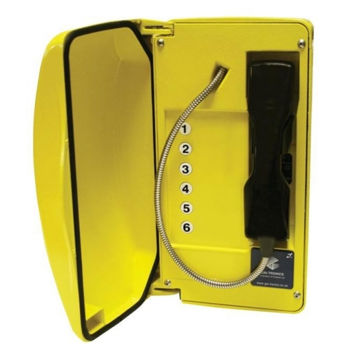 GAI-Tronics Titan 6 Button - Steel Cord - Yellow