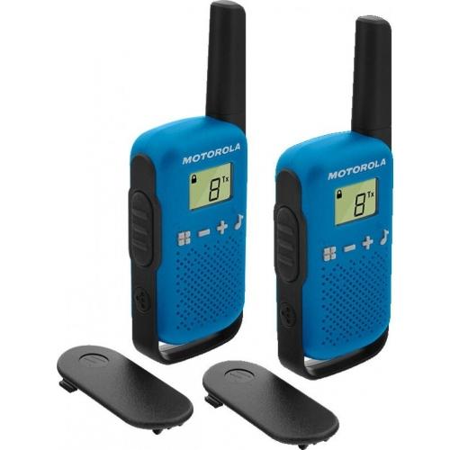 Motorola TALKABOUT T42 Walkie Talkies - Twin Pack - Blue - New