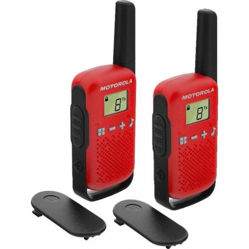Motorola TALKABOUT T42 Walkie Talkies - Twin Pack - Red - New