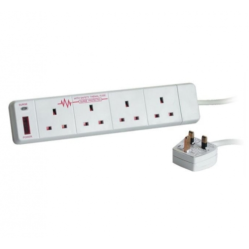 Tacima 4 Gang Surge Protected extension lead (2M)