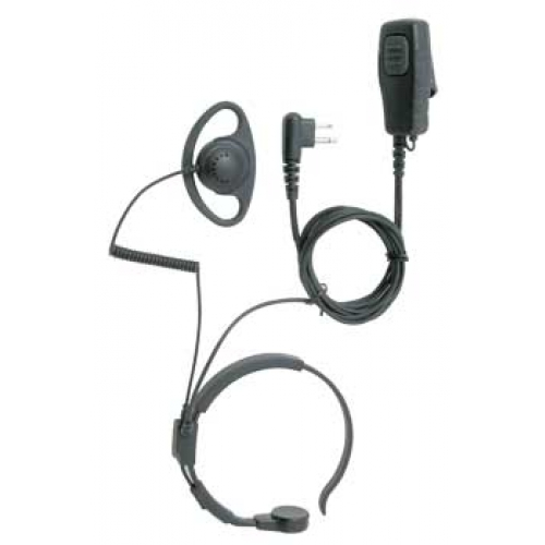 tti Heavy-Duty Throat Microphone With Covert Earpiece