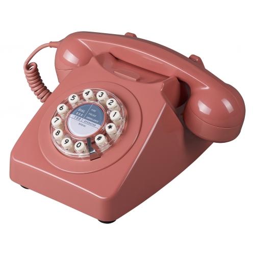 Wild & Wolf 746 Retro 1960's Telephone - Burnt Terracotta