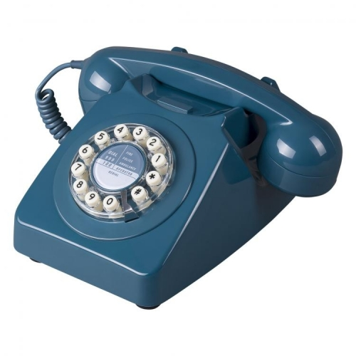Wild & Wolf 746 Retro 1960's Telephone - Biscay Blue