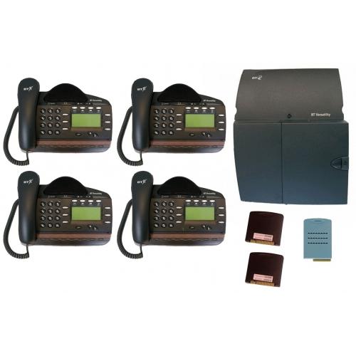 BT Versatility 4 line Analogue Telephone System With 4 x V8 Handsets - A Grade