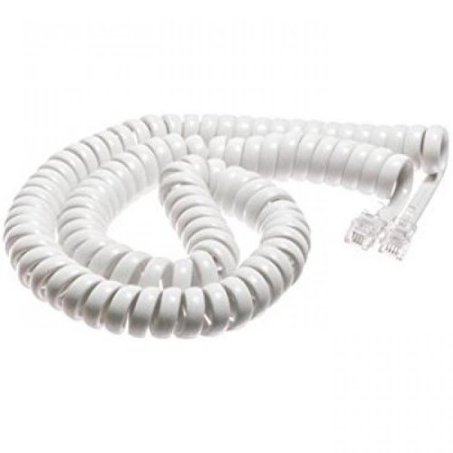 Agent Handset Curly Cord - 5M - White - New