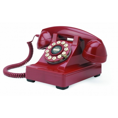 Classic Series 302 Desk Phone from Wild and Wolf - Red