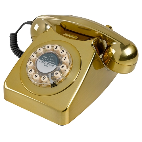 Wild & Wolf 746 Retro 1960's Telephone - Brass Brushed