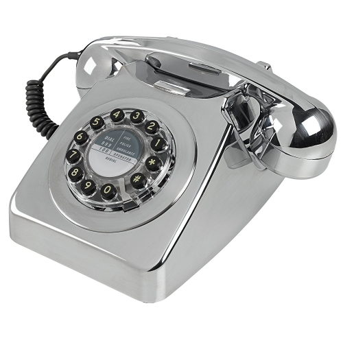 Wild & Wolf 746 Retro 1960's Telephone - Chrome Brushed