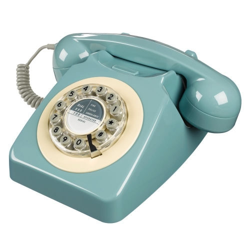 Wild & Wolf 746 Retro 1960's Telephone - French Blue
