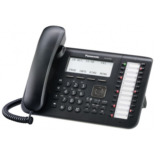 Panasonic KX-DT546 Digital 24 Key 6 Line Handset - Black