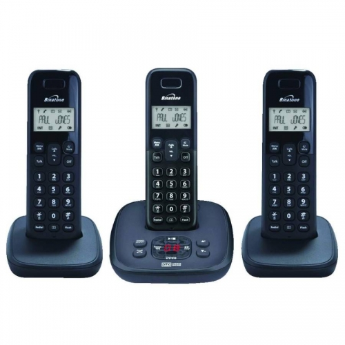Binatone Veva 1720 DECT Cordless Phone With Answering Machine - Triple Pack