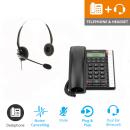 BT Converse 2300 - Black and JPL 100 Binaural Noise Cancelling Office Headset (JPL100B) Bundle