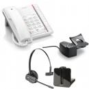 BT Converse 2200 - White and Plantronics CS540 Convertible DECT Cordless Headset - A Grade (84693-02) and Plantronics Savi HL10 - Straight Plug Version (60961-35) Bundle