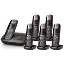 Siemens Gigaset C595 Cordless Telephone Sextet Pack