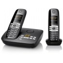 Gigaset C610A Cordless Phone With Answering Machine - Twin Pack