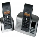 Motorola D212 Twin DECT Corldess Phone with Answering Machine