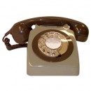 Original GPO 746 Rotary Dial 1970's Telephone - Classic Two Tone Grey