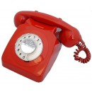 Original GPO 746 Rotary Dial 1970's Telephone - Classic Red