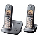 Panasonic KX-TG6612 DECT Cordless Phone - Twin Pack