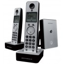 Motorola LIVN D702 Twin DECT Cordless Phone - Silver
