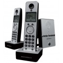 Motorola LIVN D712 - Twin Cordless Phone with Answering Machine - Silver