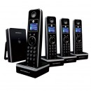 Motorola LIVN D804 DECT Cordless Phone Quad Pack - Black