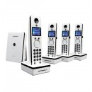 Motorola LIVN D804 DECT Cordless Phone Quad Pack - White