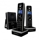 Motorola LIVN D812 DECT Cordless Phone Twin Pack with Answering Machine - Black