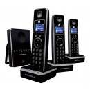 Motorola LIVN D813 DECT Cordless Phone Triple Pack with Answering Machine - Black