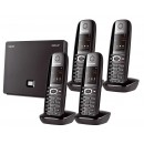 Siemens Gigaset N300A IP DECT Base With Answering Machine And C610H Additional Handset - Quad Pack