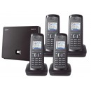 Siemens Gigaset N300A IP DECT Base With Answering Machine And E49H Additional Handset - Quad Pack