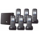 Siemens Gigaset N300A IP DECT Base With Answering Machine And E49H Additional Handset - Sextet Pack