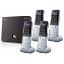 Siemens Gigaset N300IP DECT Base And Quad SL78H Additional Handsets