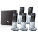 Siemens Gigaset N300A IP DECT Base With Answering Machine And Quint SL78H Additional Handset