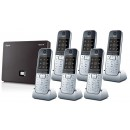 Siemens Gigaset N300A IP DECT Base With Answering Machine And Sextet SL78H Additional Handsets