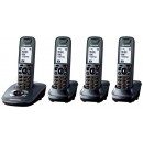 Panasonic KX-TG7524EM DECT Quad Pack Cordless Phone with Answering Machine