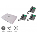 Orchid Analogue PABX 308+ (Plus) Multi-line Phone System with 3 x Orchid XL220 Handsets with 10 Metre Connection Cables (3 User) Logos