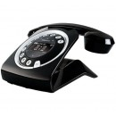 Sagemcom Sixty Retro Cordless Phone With Answering Machine - Black