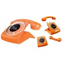 Sagemcom Sixty Retro Cordless Phone With Answering Machine - Orange