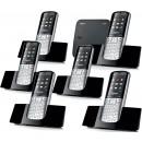 Siemens Gigaset SL400A Bluetooth Cordless Phone - Sextet Pack