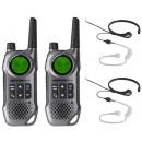 Motorola TLKR T8 Twin Two Way Radio With CoolTalk Extreme Throat Mics