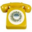 Wild & Wolf 746 Retro 1960's Telephone - English Mustard