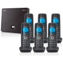 Siemens Gigaset N300A IP DECT Base With Answering Machine And A510H Additional Handset - Sextet Pack