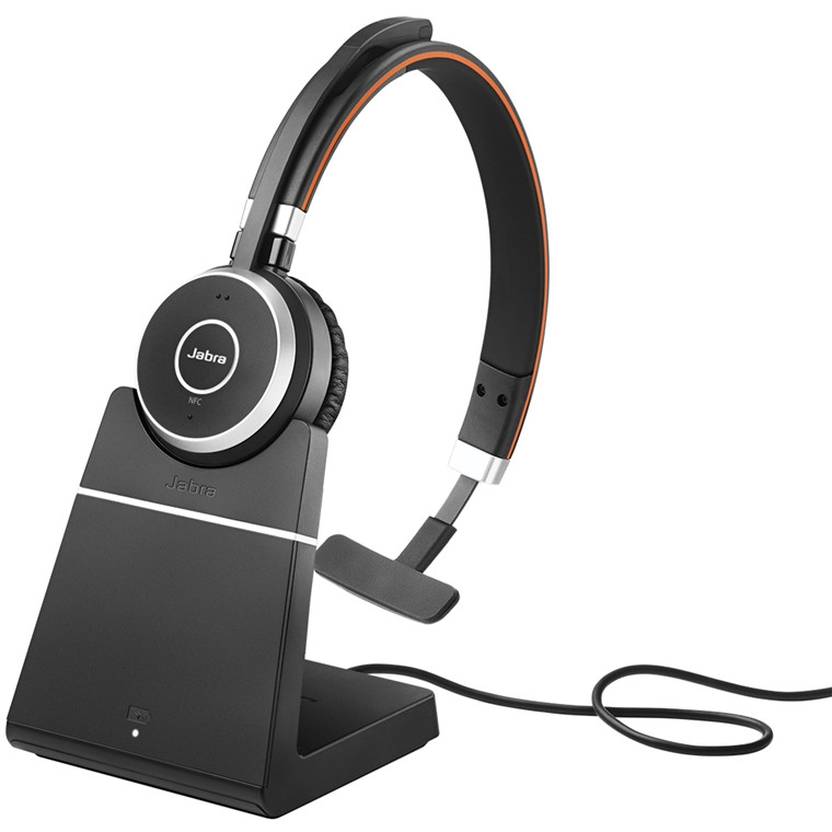 c6b7fc9a412 Jabra Evolve 65 Mono With Charging Stand | UC or MS | From £124.99 |  6593-823-499 | 6593-823-399 - PMC Telecom