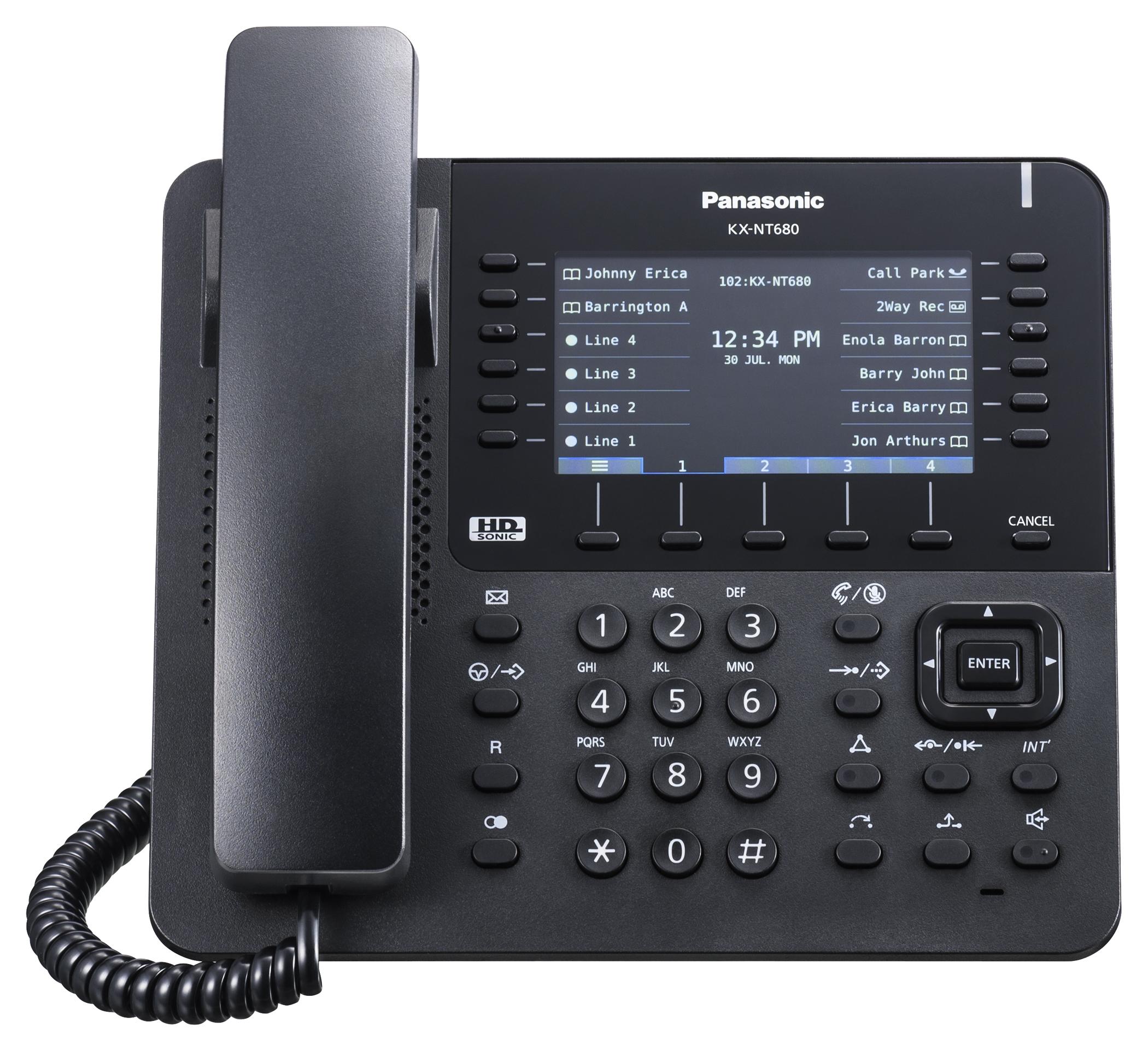IP Phones   Panasonic KX-NT680   IP Phone   Black   From £ ...